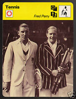 FRED PERRY British Tennis Player Photo 1977 SPORTSCASTER CARD 35-22