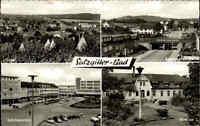 Salzgitter ~1950/60 Mehrbildkarte Breslauer Straße Schützenplatz Kurhaus Totale