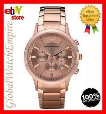 New Emporio Armani  rose gold Chrono mens watch - AR2452 - RRP 425$