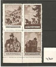 CINDERELLA  -Y60- GERMANY -  HEIMATVERTRIEBEN - SE TENANT BLOCK