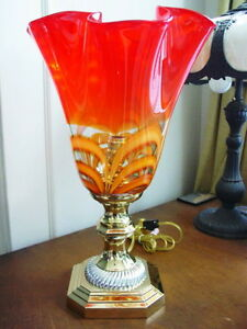 Waterford EVOLUTION RED AMBER TORCH LAMP - NEW!