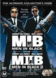 Men In Black / Men In Black II (DVD, 2-Disc Set) Will Smith Tommy Lee Jones R4