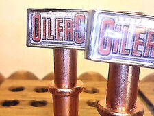 2  Edmonton Oilers Metal Cribbage Board Pegs, Hockey, With Black Velvet Bag   _