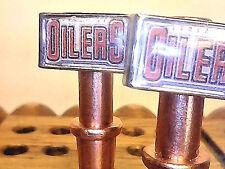 2  Edmonton Oilers Metal Cribbage Board Pegs, Hockey, With Black Velvet Bag   a