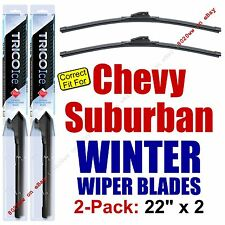 WINTER Wiper Blades 2-Pk Super-Premium fit 2000+ Chevrolet Suburban 35220x2