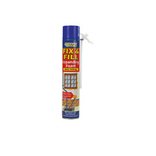 EVERBUILD FIX & FILL EXPANDING FOAM FILLER GAPS AND CRACKS ADHESIVE 500ml Tin