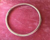 Vintage Jewellery White Gold Golf Bangle Heavy 24 grams Antique Deco Jewelry
