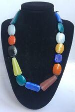Boho Folk Gypsy Glass Multi Coloured Beaded Summer Necklace - Free Post