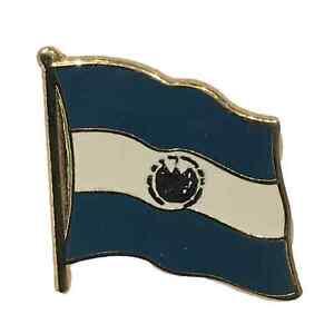 El Salvador  National Flag 3/4 Gold Plated Courtesy Enamel Pin Badge