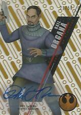 "Star Wars High Tek: Gold SW-55 Phil LaMarr ""Bail Organa"" Autograph Card #21/50"