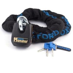 Oxford Monster Motorcycle 1.5 m Chain & Padlock LK802 Thatcham Security was £120