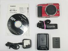Olympus E-PL1 12.3MP Digital Camera - Red (Body Only) BOXED