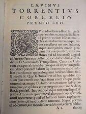 1591 Laevinus Torrentius COMMENTARY ON SUETONIUS' XII CAESARS, Plantin Antwerp