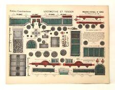 Pellerin Imagerie D'Epinal-#1204 Locomotive et Tender Petite vintage paper model