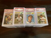 1977 TOPPS BASEBALL PSA 9 MINT -- PICK ANY CARD(S) FROM THE LIST -- FREE SHIP