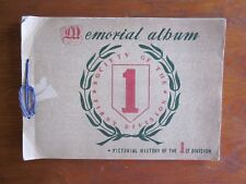 """MEMORIAL ALBUM SOCIETY OF FIRST DIVISION """"BIG RED ONE"""" PICTORIAL HISTORY  """"LOOK"""""""