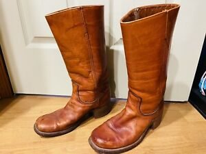 Frye Campus Brown Leather Boots Womens Size 10D Made in USA