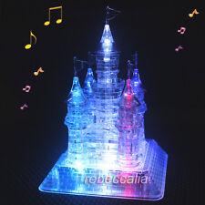 Kristall Schloss 3D Puzzle LED Farbewechseln Musikbox Geburtstag Geschenk DHL