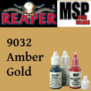 AMBER GOLD 9032 - MSP core 15ml 1/2oz paint pot peinture REAPER MINIATURE