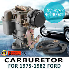 Carburetor YF Type Carter For 1975-82 Ford 240 250 300 Engine 6 Cylinder Vacuum