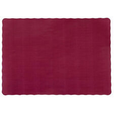 """1000 Paper Placemats 10"""" X 14"""" Dinner Size 26 Colors - Burgundy"""