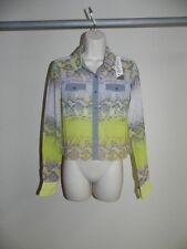 Buffalo David Bitton Blouse Sheer Millie Crocky Print XS Womens NWT $69