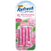 Refresh Odour Eliminating Pink Petals Scented Air Freshener Vent Sticks 4 Pack
