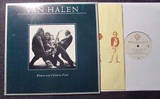 1980 Van Halen Women And Children First LP EX/EX w/ DLR Poster HS 3415