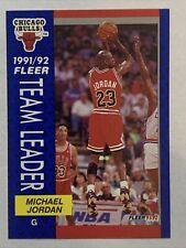 1991-92 Fleer Team Leaders Michael Jordan, Card #375, Chicago Bulls