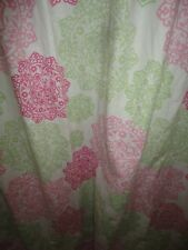 TOMMY HILFIGER HIBISCUS HILL GREEN PINK FLORAL (1) LINED SHOWER CURTAIN 70 X 69