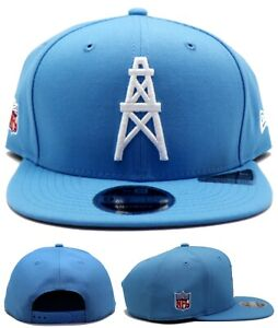 Houston Oilers New Era 9Fifty Tennessee Titans Throwback Blue Snapback Hat Cap