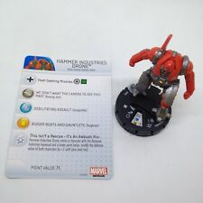 Heroclix Invincible Iron Man set Hammer Drone Industries #005 Common fig w/card!