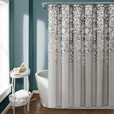 Nice Gray Weeping Floral Farmhouse Shabby Chic Elegant Fabric Shower Curtain