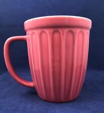 2006 Starbucks Pink Rose Flower Pot Coffee Mug Cup Embossed Ribbed  Spring Stars