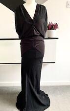 REISS Dress Size M BLACK | SMART Occasion WEDDING Cruise RACES MAXI