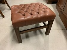 More details for a stunning, good quality mahogany leather chesterfield footstool