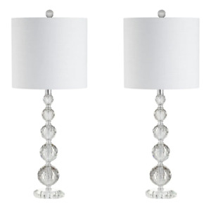 Table Lamp 1 Light Eco-Friendly Dry Rated Plug-In Crystal/ Iron (Set of 2)