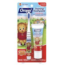 Orajel Daniel Tiger's Training Toothpaste Fruity Stripes 1.0oz Each