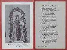 Santino Holy Card: Maria SS. della Penna - Vasto