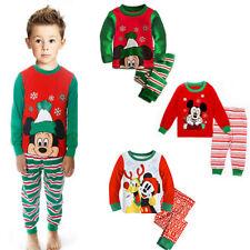 Garsumiss Jungen M/ädchen Schlafanzug Weihnachten Kinder Pajama Langarm Herbst Winter Nachtw/äsche 98 104 110 116 122 128 134