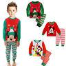 Kids Boys Girls  Mickey Mouse Christmas Tracksuit Leisure Sleepwear Outfits Set