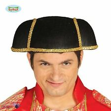 *Adult Mens Black Spanish Bullfighter Matador Fancy Dress Costume Hat Accessory*