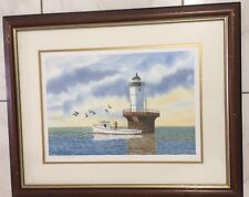 ART HAND SIGNED NUMBERED MARITIME PRINT BY ROBERT S. BARNES 2001 11/500