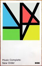 NEW ORDER Music Complete Ltd Ed Discontinued RARE Poster +FREE Rock Pop Poster!