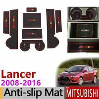 Anti-Slip Gate Slot Mat Rubber Cup Coaster For Mitsubishi Lancer Ralliart EVO X