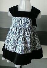 Baby Girls Black and White Print Dress 6-9 months Mini Mode