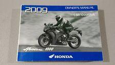 Honda Owners Manual For 2009 CBR1000RR/A CBR1000