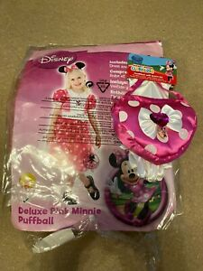 Pink Minnie Mouse Costume Age 5-7 and bag & gloves Brand new