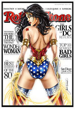 Wonder Woman Rolling Stone Art Print by Jamie Tyndall. 11x17