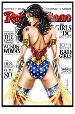 Wonder Woman Rolling Stone Art Print by Jamie Tyndall. 11x17